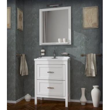Комплект мебели ASB-Woodline Римини 60 белый/патина серебро