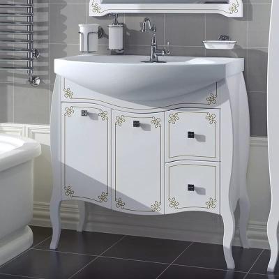 Комплект мебели АСБ-Mebel Парма белый с золотой патиной