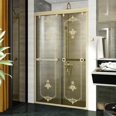 Душевая перегородка в нишу с двойной раздвижной дверью 140 Bronze