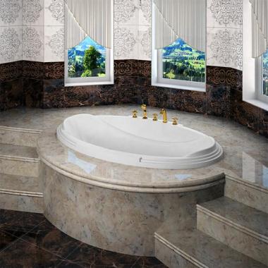 Акриловая ванна Fra Grande Гранада 185х119 встраиваемая