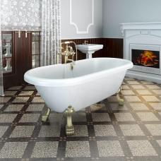 """Акриловая ванна Fra Grande """"Леонесса 175х80"""" Bronze (чаша перламутровая, оболочка белая)"""