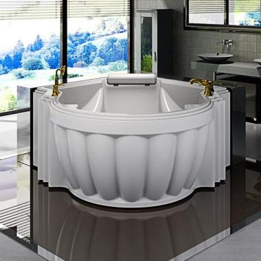 Акриловая ванна Fra Grande Монте-Карло 185х119 с панелью перламутровая