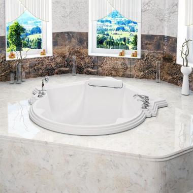 Акриловая ванна Fra Grande Монте-Карло 149x149 см встраиваемая перламутровая