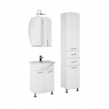 Комплект мебели для ванной Aquanet Моника 60 белый