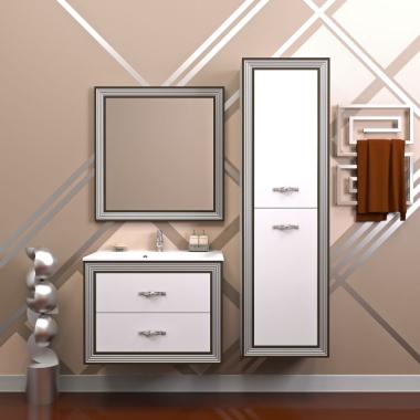 Комплект мебели Opadiris Карат 80 белый серебро