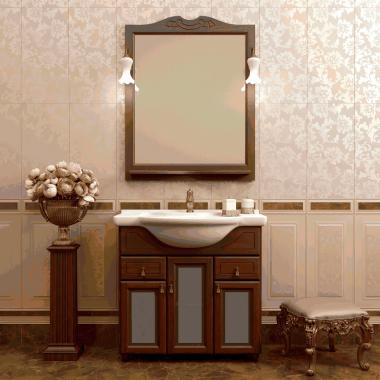 Комплект мебели со стеклом Opadiris Тибет 80 орех антикварный