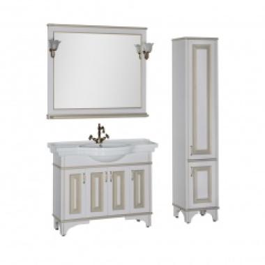 Комплект мебели для ванной Aquanet Валенса 110 белый краколет/золото