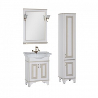 Комплект мебели для ванной Aquanet Валенса 70 белый краколет/золото