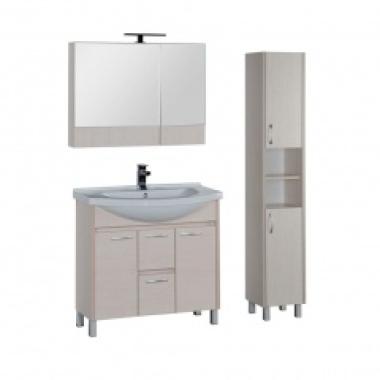 Комплект мебели для ванной Aquanet Донна 90 белый дуб (камерино)