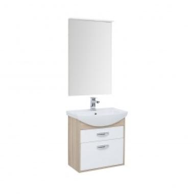 Комплект мебели для ванной Aquanet Грейс 65 дуб сонома/белый (2 ящика)