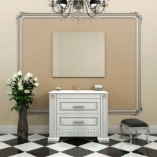 Комплект мебели Opadiris Оникс 100 белый с серебряной патиной