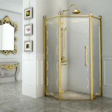 """Душевое ограждение """"Палаццо"""" Gold"""