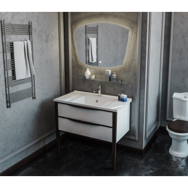 Комплект мебели Smile Риголетто 90 белый/орех